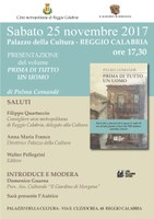"""Palazzo della Cultura """"P. Crupi"""" - Presentazione del libro Prima di tutto un uomo di Palma Comandè"""