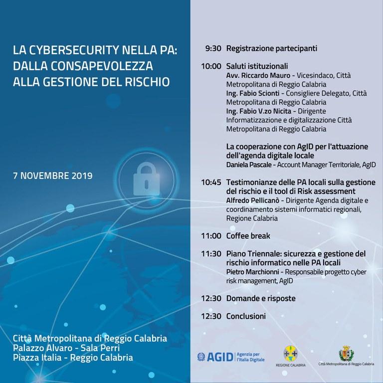 Programma cybersecurity nella PA