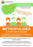 """Al via il concorso """"Metropolidea, la nostra idea in Comune"""""""