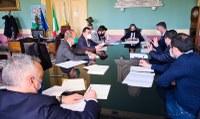 Bilancio di previsione, riunione operativa fra Sindaco, Consiglieri delegati e Dirigente alle finanze della Città Metropolitana.