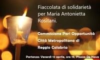 Fiaccolata di solidarietà per Maria Antonietta Rositani