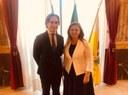 Il Console Generale di Romania in visita a Palazzo Alvaro