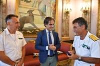 Il sindaco Falcomatà ha incontrato gli Ammiragli Russo e Ranieri