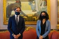 Il sindaco metropolitano Giuseppe Falcomatà ha ricevuto a Palazzo Alvaro la Console di Tunisia per il Sud Italia Beya Ben Abdelbaki