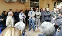 Sit-In di solidarietà presso l'Emeroteca Civica